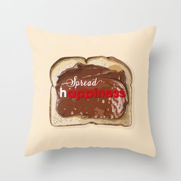 Spread Happiness - Nutella on Toast Throw Pillow