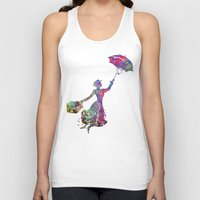 mary poppins Tank Tops featuring Mary Poppins by Bitter Moon