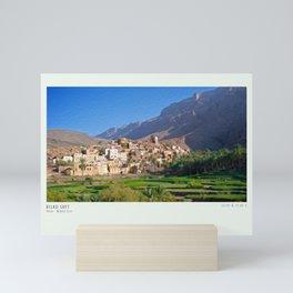 Bilad Sayt village in Oman Mini Art Print
