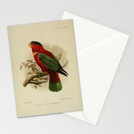 Yellow bibbed Lory Stationery Cards