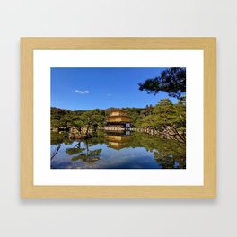 Kinkaku-ji, Golden Pavilion Temple Framed Art Print