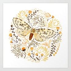 Giant Leopard Moth Art Print