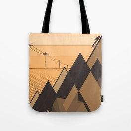 Little mountains and a car  Tote Bag