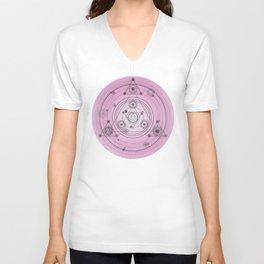 Pink magic geometry Unisex V-Neck
