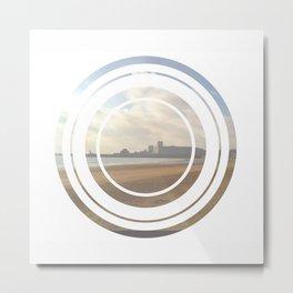 Sea Circle Metal Print