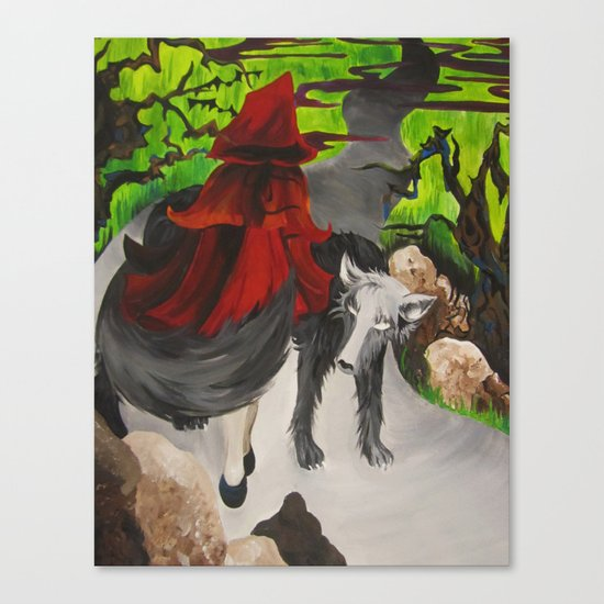 Riding Hood Canvas Print