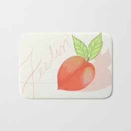 Feeling peachy Bath Mat