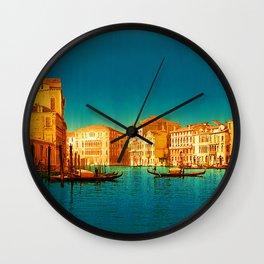 Venice Italy Vintage Original Painting Wall Clock