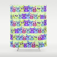 owls Shower Curtains featuring Owls by DMiller
