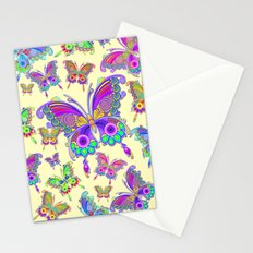 Butterfly Colorful Tattoo Style Pattern Stationery Cards