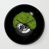 afro Wall Clocks featuring Mundo Afro by Juan Pivaral