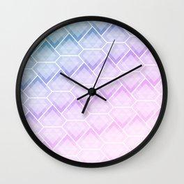 Diamonds watercolor art print Wall Clock