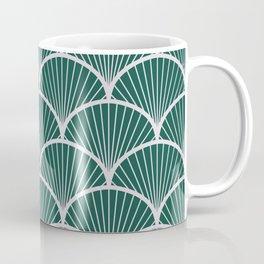 Emeral grey petal geometric pattern Coffee Mug