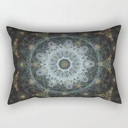 Golden Mandala Web Rectangular Pillow