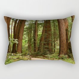 Walking Through The Muir Woods Rectangular Pillow