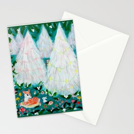 Christmas Deer and Bun Stationery Cards