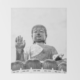 The Big Buddha in Black and White #decor #society6 #buyart Throw Blanket