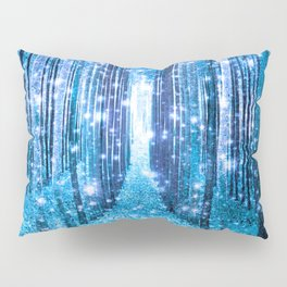 Magical Forest  Light Blue Turquoise Pillow Sham