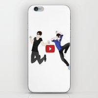 danisnotonfire iPhone & iPod Skins featuring Amazingphil & danisnotonfire by Ymiroz
