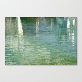 Aqua Abstract Flow Canvas Print