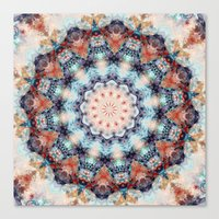 kaleidoscope Canvas Prints featuring kaleidoscope  by North 10 Creations