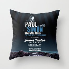 PAUL SIMON BRITISH SUMMER TIME TOUR DATES 2019 KAMBOJA Throw Pillow