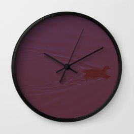 the duck in the pond Wall Clock