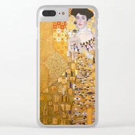 Gustav Klimt - Portrait of Adelle Bloch Bauer Clear iPhone Case