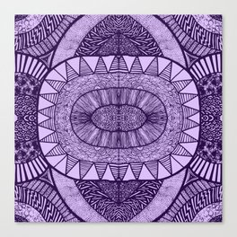 Grape Tangled Mania Pattern Doodle Design Canvas Print