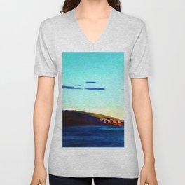 N.C. Wyeth Blubber Island Maine Unisex V-Neck