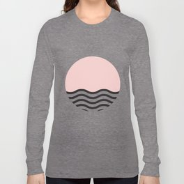 Waves of Pink Long Sleeve T-shirt