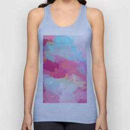 Colorful Abstract - pink and blue pattern Unisex Tank Top