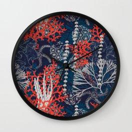 Corals and Starfish Wall Clock