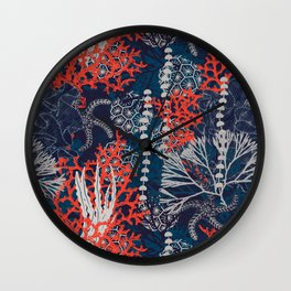 Corals and Starfish Wall Clock