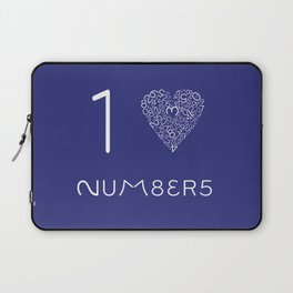I heart Numbers Laptop Sleeve