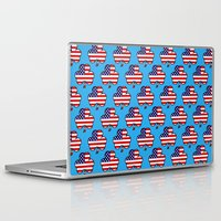 patriots Laptop & iPad Skins featuring American Shamrock by The Wellington Boot