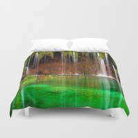 oregon Duvet Covers featuring Oregon Shower by Robin Curtiss