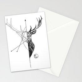 deer lines Stationery Cards