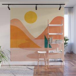 Abstraction_Lake_Sunset Wall Mural