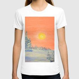 winter trees snow and sun . art T-shirt