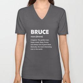 Bruce Name Gift design Unisex V-Neck