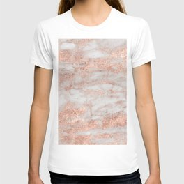 Martino rose gold marble T-shirt