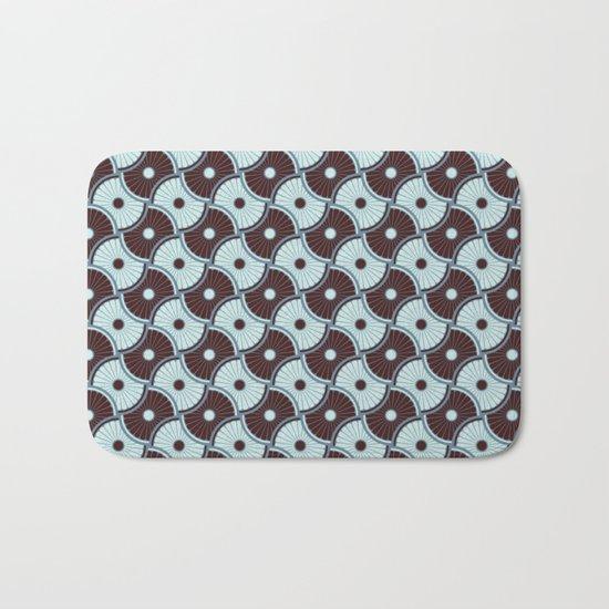 Brawn blue pattern 5 Bath Mat