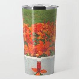 White Picket Fence / Daylilies / Flowers Travel Mug