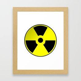 Nuclear Symbol Framed Art Print
