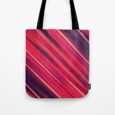 Moder Red / Black Stripe  Abstract Stream Lines Textuer Design  Tote Bag