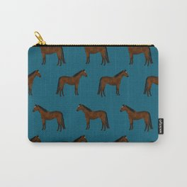Bay Horse breed farm animal pet pattern horses Carry-All Pouch