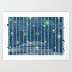 Night Bamboo Art Print