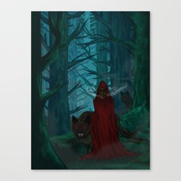 Little Red Gas Mask Canvas Print