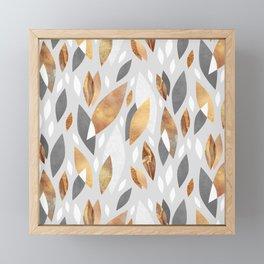 Falling Gold Leaves Framed Mini Art Print